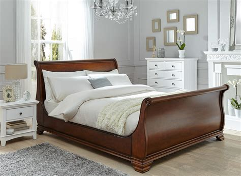 walnut bed frame orleans walnut wooden bed frame dreams