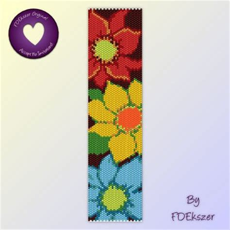bead loom flower patterns peyote stitch beading patterns and flower on
