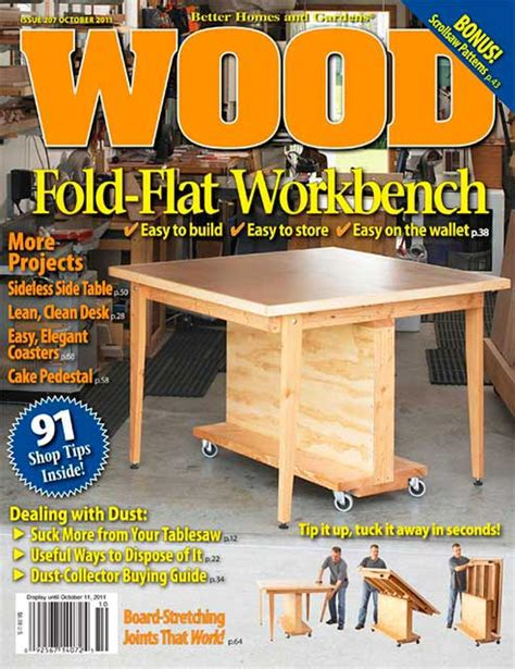 woodworking at home magazine wood issue 207 october 2011 woodworking plan from wood