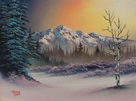 bob ross paintings winter bob ross pastel winter paintings bob ross pastel