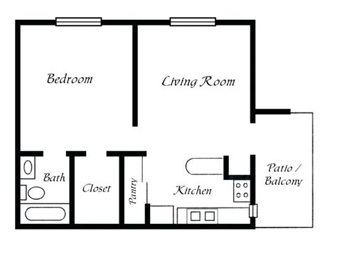 easy floor plans one bedroom one bath house plans the best simple floor plans ideas on simple house plans small
