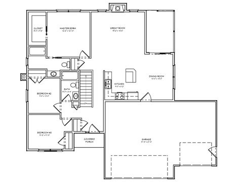 open ranch style floor plans small ranch house plans 3 bedrooms open ranch style house plans a small house plan mexzhouse