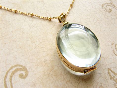 lockets for jewelry oval beveled glass locket necklace personalized oval heirloom