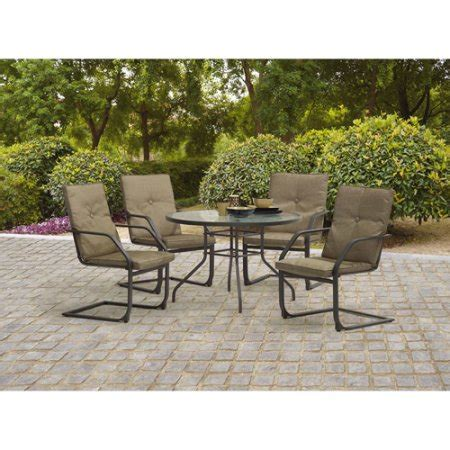 mainstays wicker 5 patio dining set seats 4 mainstays creek 5 patio dining room set