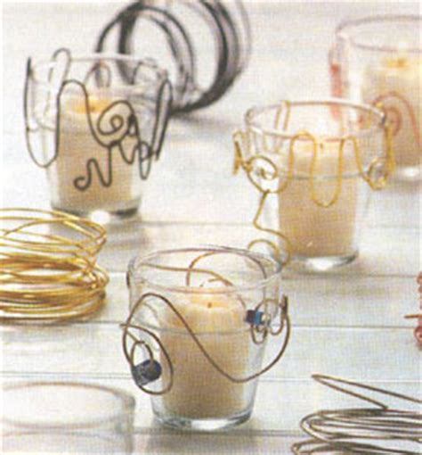 craft wire projects projects wire wrapped votives