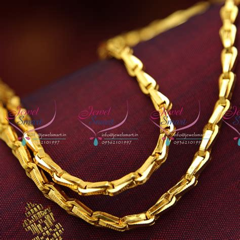 gold chain with black model c4255 gopi chain 24 inches length daily wear