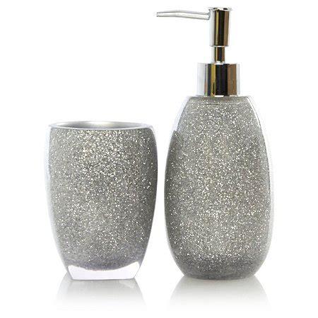 range bathroom accessories george home silver glitter bath accessories range