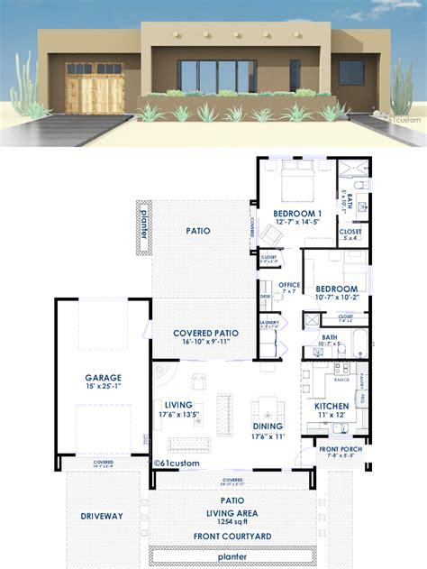 contemporary home plans with photos contemporary adobe house plan 61custom contemporary