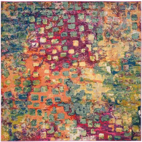 5 ft area rugs safavieh monaco pink multi 5 ft x 5 ft square area rug