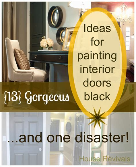 interior door painting ideas painting doors black can be just the right thing to add a