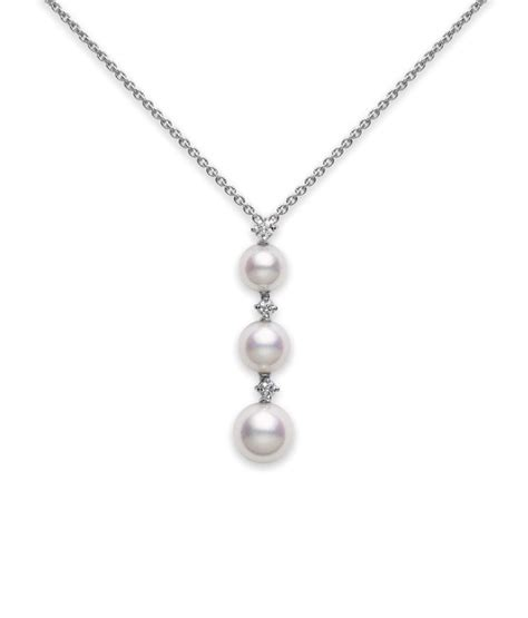 pearl pendants for jewelry pearl pendant necklace three pearl drop pendant