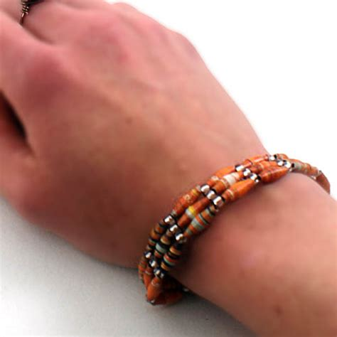 paper bead bracelets recycled paper bead bracelets