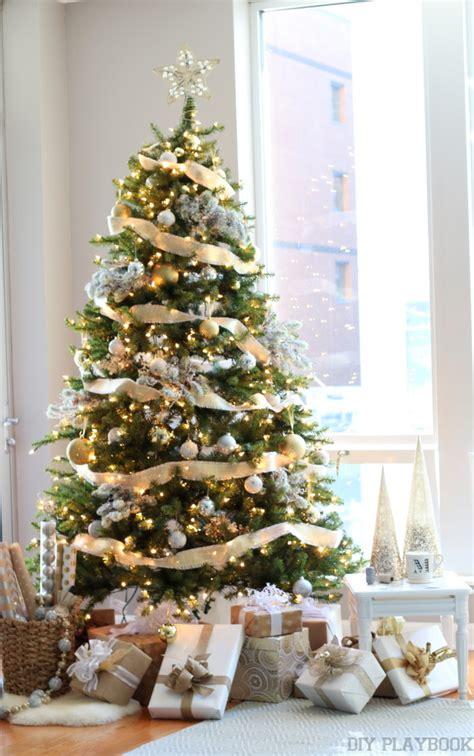 glamorous trees a gorgeous gold silver glamorous tree