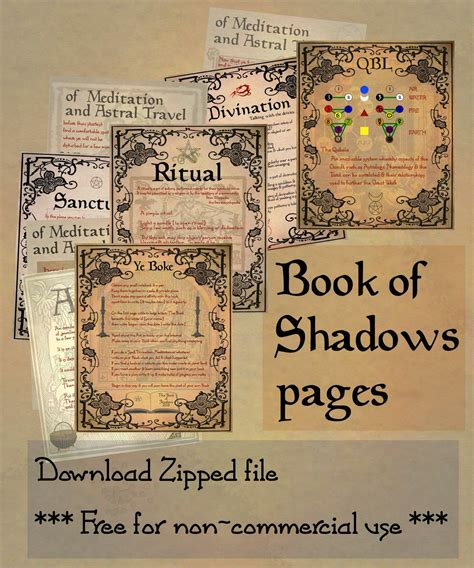 book pdf free free book of shadows printables mystic