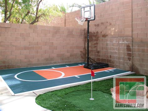 basketball half court dimensions backyard triyae small basketball court in backyard various