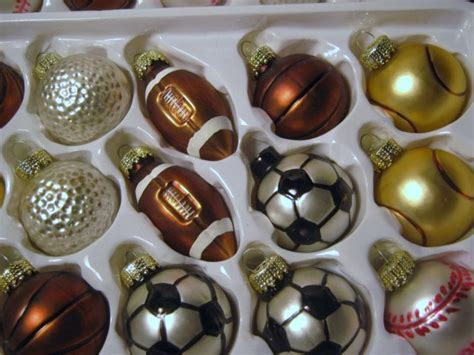 themed ornaments 30 vintage blown glass sport themed 1980s ornaments