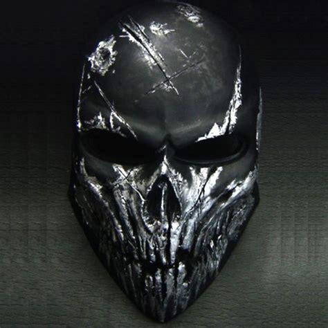 black skull airsoft mask skull black