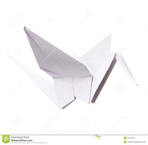 origami paper white paper crane royalty free stock images image 30751529