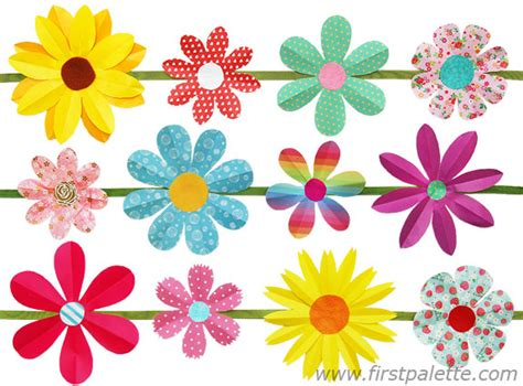 paper cutting flowers crafts folding paper flowers craft 6 petal flowers