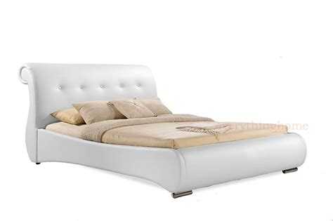 white leather sleigh bed frame white leather sleigh bed frame white sleigh bed frame