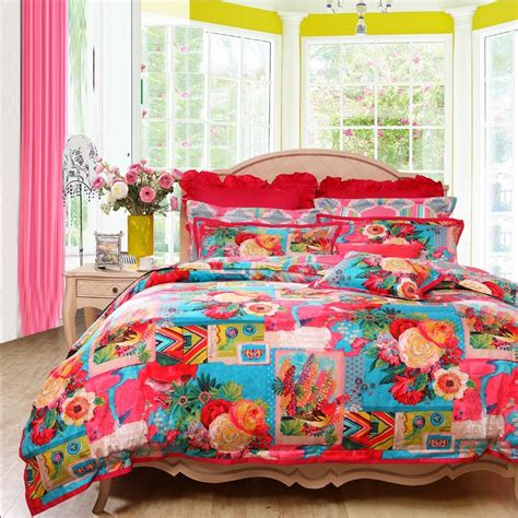 Gorgeous Cool Comforter Sets Home And Textiles Colorful Bohemian Indian Tribal Style Tropical Vintage Chic Gorgeous And Unique