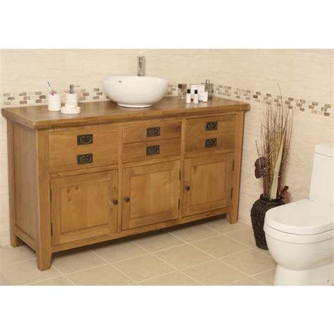 large bathroom vanity units valencia rustic oak large bathroom vanity unit best