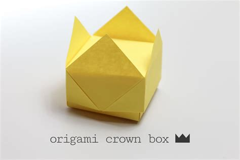 origami easy box easy origami crown box