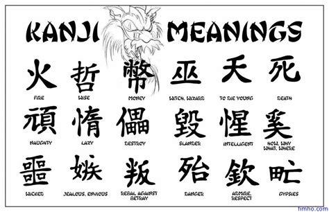 kanji tattoos fimho