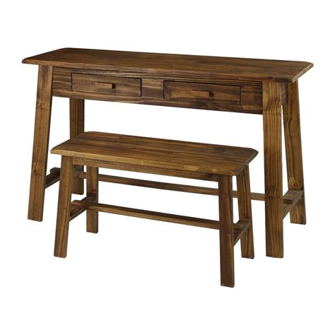 rustic writing desk shop casual home rustic brown writing desk at lowes