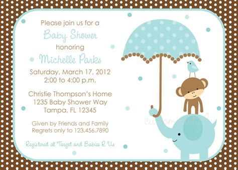 make a baby shower card invitations for baby shower boy theruntime
