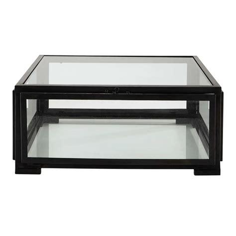 table basse carr 233 e en verre et m 233 tal l 80 cm alphonse maisons du monde