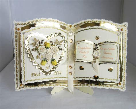 golden wedding cards to make bookatrix golden wedding anniversary card