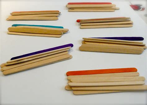 with popsicle sticks popsicle stick fractions navigating by
