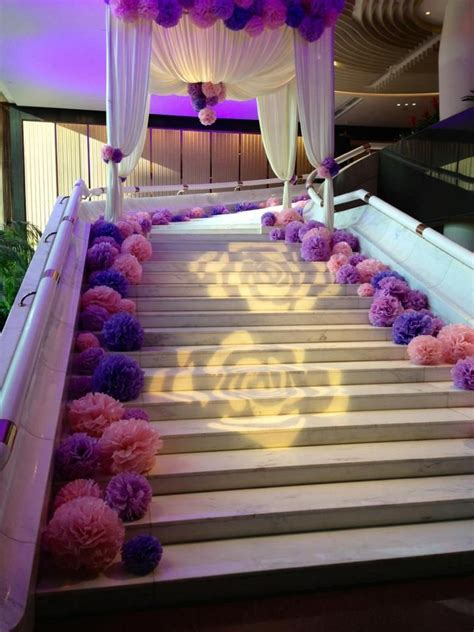stairs decorations pom staircase s wedding colour