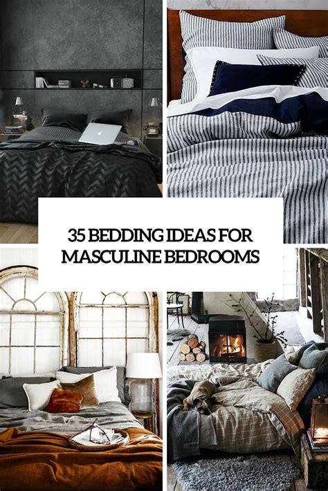 masculine bedding sets 35 awesome bedding ideas for masculine bedrooms digsdigs