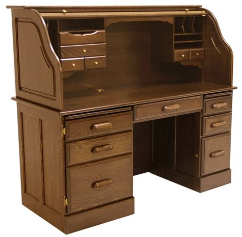 solid oak computer desk 60 quot w solid oak rolltop computer desk in briar finish