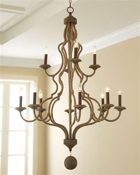 jute chandelier andrew design jute chandelier