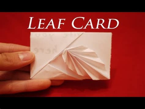 how to make a card out of paper how to make an easy origami leaf card hd