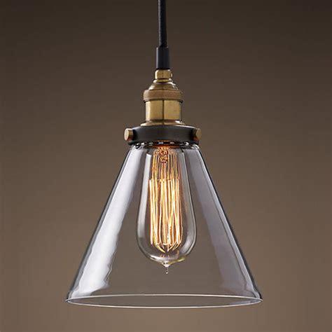 vintage light bulb pendant modern vintage industrial metal glass ceiling light shade