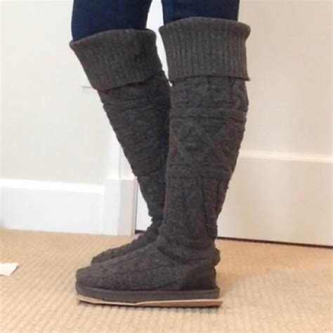 grey knit boots 46 ugg boots grey knit ugg knee high boots from