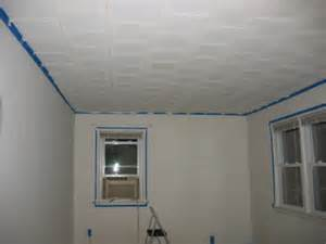 painting acoustic ceiling tiles things are looking up diy and home improvement