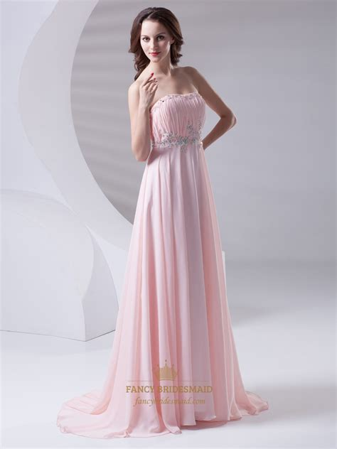 beaded chiffon bridesmaid dresses pink strapless chiffon bridesmaid dresses with beaded