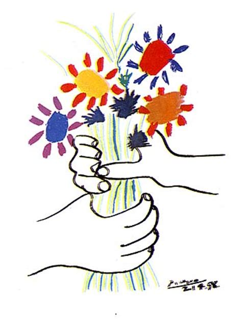 picasso paintings holding flowers picasso quot bouquet of peace quot p r e p