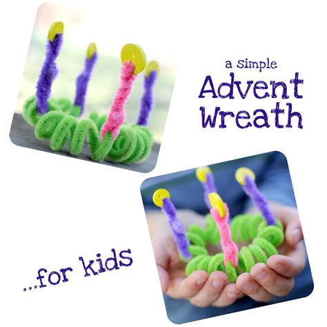 advent craft for when running amok an advent wreath made by for