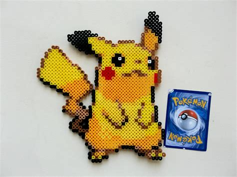 pikachu perler pikachu perler bead ornament decoration decor 5 sprite