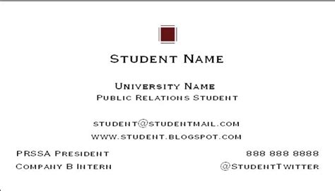 how to make a student business card how to create a college student business card career onward