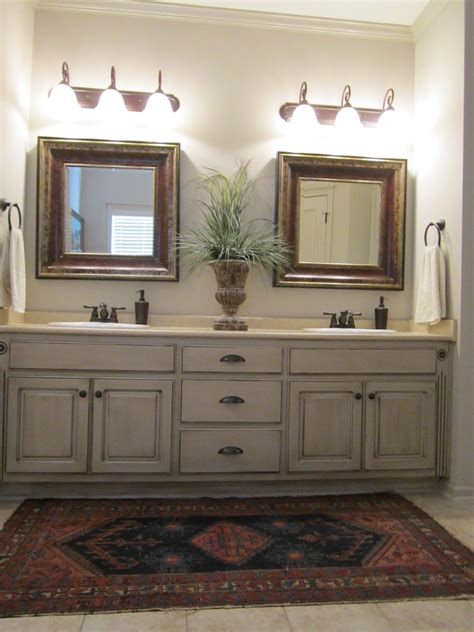 Bathroom Cabinet Paint Ideas by These Painted Bathroom Cabinets And The Lights What