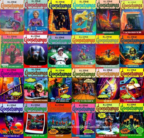 list of goosebumps books with pictures goosebumps official poster
