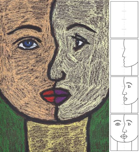 picasso paintings easy projects for how to draw a cubist portrait