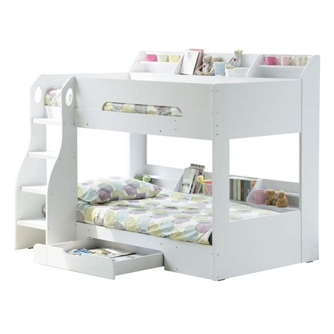 futon bunk bed with storage bunk bed in white with storage beds